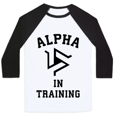 Alpha In Training Baseball Tee