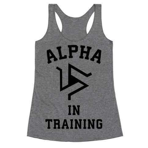 Alpha In Training Racerback Tank Top