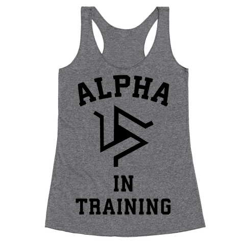 Alpha In Training Racerback Tank Top