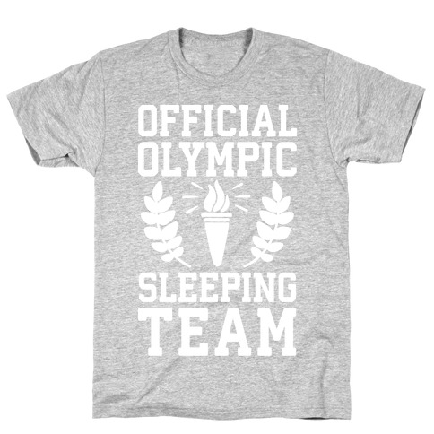 Official Olympic Sleeping Team Mens T-Shirt