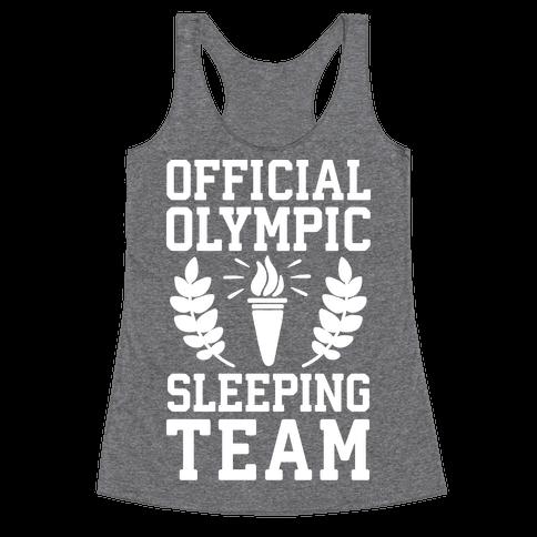 Official Olympic Sleeping Team Racerback Tank Top