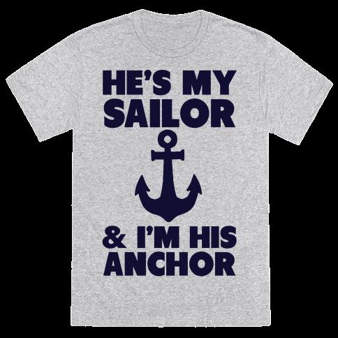 I'm His Anchor (Navy T-Shirt)
