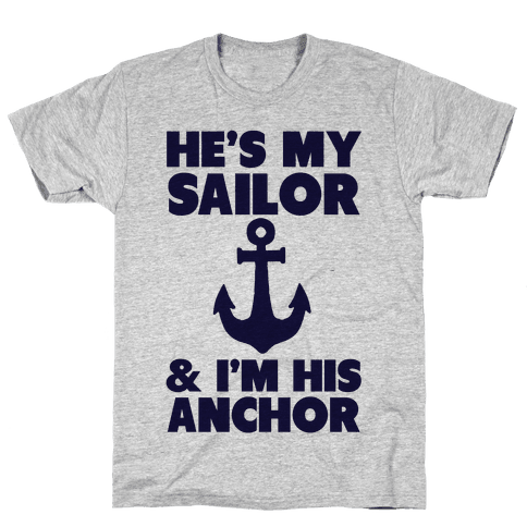 3ca5599d9 I'm His Anchor (Navy T-Shirt) Mens T-Shirt
