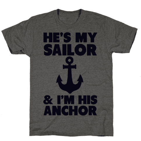 I'm His Anchor (Navy T-Shirt)