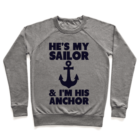 I'm His Anchor (Navy T-Shirt) Pullover