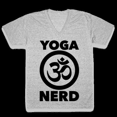 Yoga Nerd V-Neck Tee Shirt