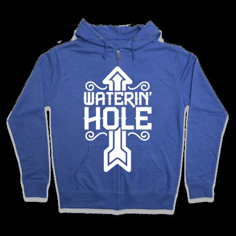 Waterin' Hole Zip Hoodie