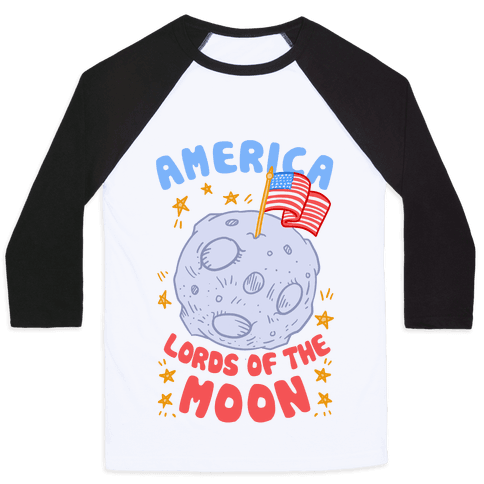America Lords of the Moon Baseball Tee