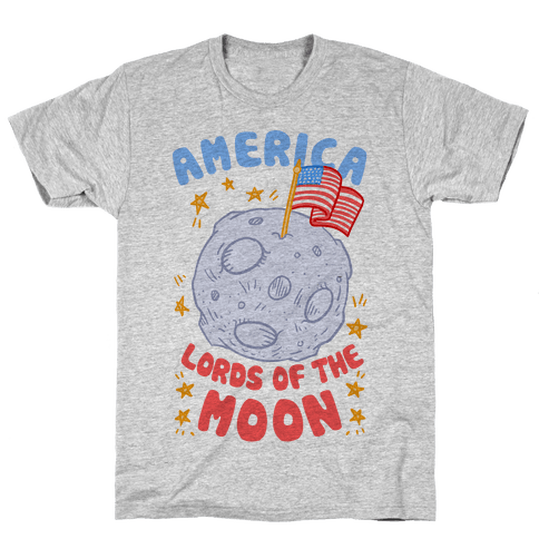 America Lords of the Moon Mens T-Shirt