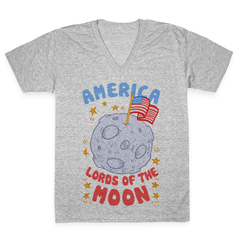 America Lords of the Moon V-Neck Tee Shirt