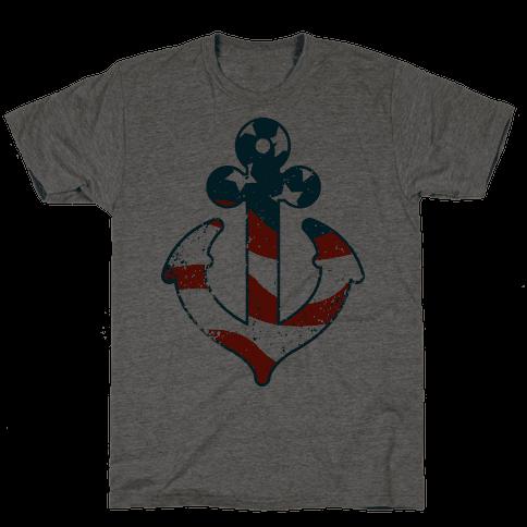 American Anchor (Navy Raglan)