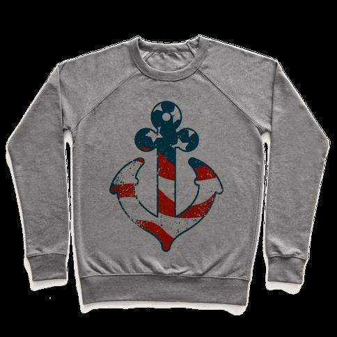 American Anchor (Navy Raglan) Pullover