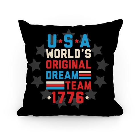 USA World's Original Dream Team 1776 Pillow