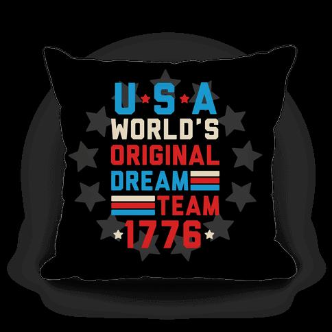 USA World's Original Dream Team 1776 Pillow