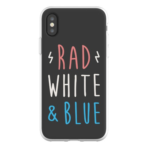 Rad White & Blue Phone Flexi-Case