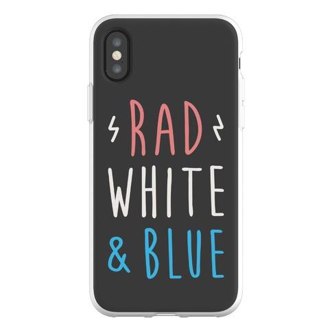 Rad White & Blue Phone Flexi-Case