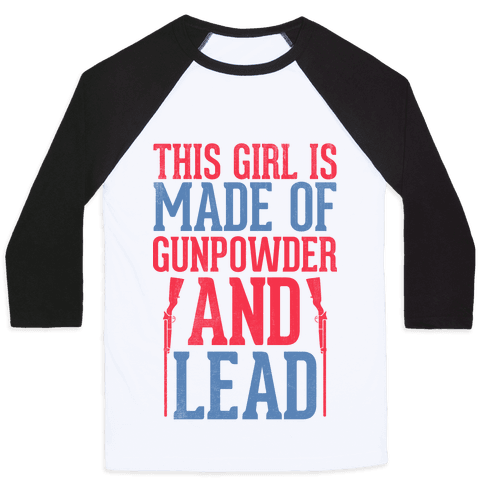 Gunpowder and Lead Baseball Tee
