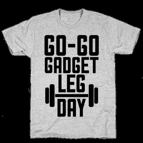 Go-go Gadget Leg Day Mens T-Shirt