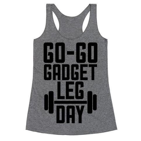 Go-go Gadget Leg Day Racerback Tank Top
