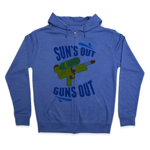 Suns Out, Guns Out Zip Hoodie
