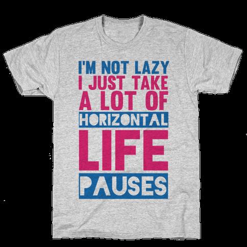 Not Lazy Mens T-Shirt