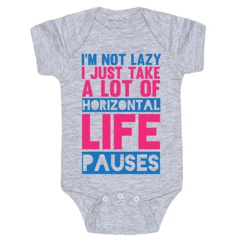 Not Lazy Baby Onesy