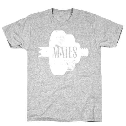 Swole Mates (Distressed White) Mens T-Shirt