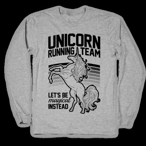 Unicorn Running Team Long Sleeve T-Shirt