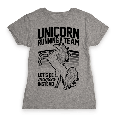 Unicorn Running Team Womens T-Shirt