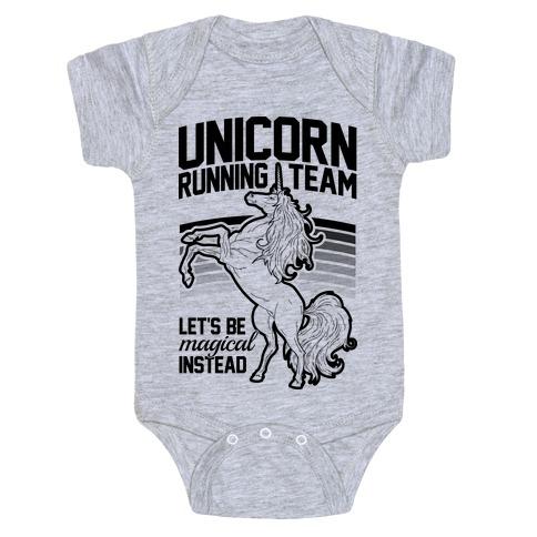 Unicorn Running Team Baby Onesy