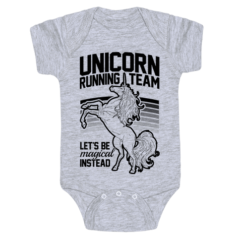 Unicorn Running Team Baby One-Piece
