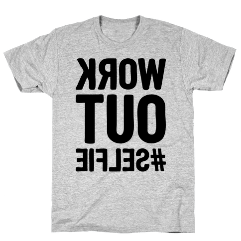 Work Out Selfie Mens T-Shirt