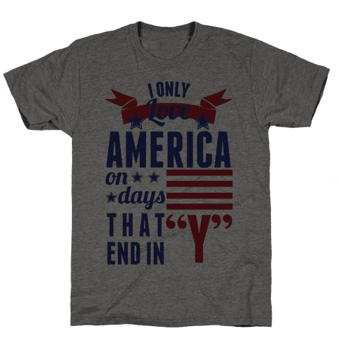 I Love America On Days That End In Y (Patriotic Hoodie)