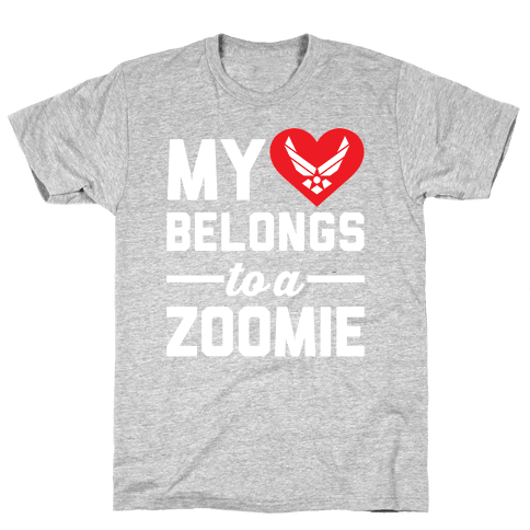 My Heart Belongs To A Zoomie Mens T-Shirt