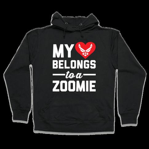 My Heart Belongs To A Zoomie Hooded Sweatshirt