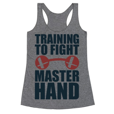 Training To Fight Master Hand Racerback Tank Top