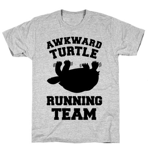 Awkward Turtle Running Team Mens T-Shirt