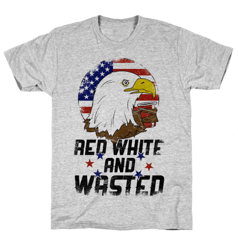 Red, White, And Wasted Mens T-Shirt