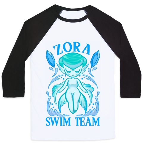 Zora Swim Team Baseball Tee