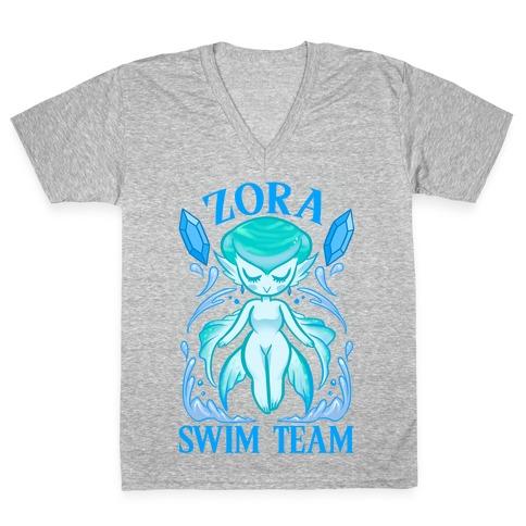 Zora Swim Team V-Neck Tee Shirt