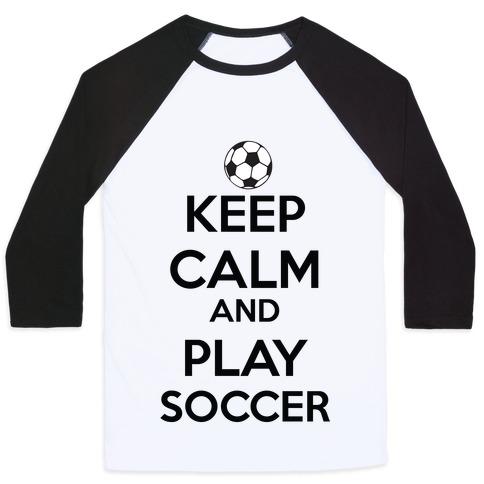 Play Soccer Baseball Tee