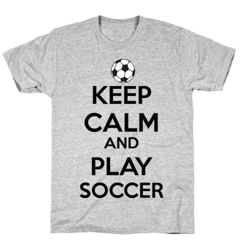 Play Soccer Mens/Unisex T-Shirt