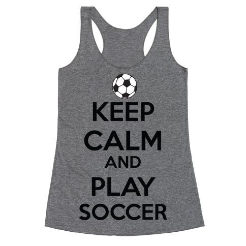Play Soccer Racerback Tank Top