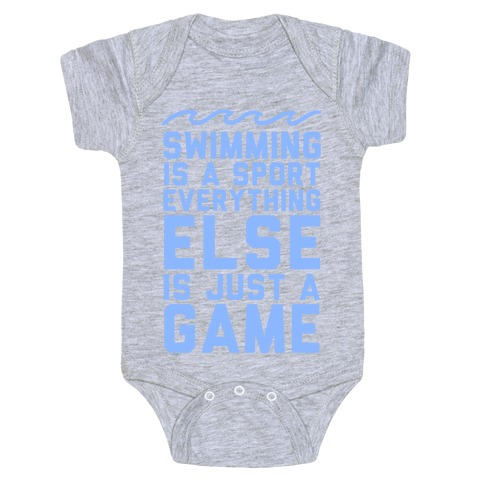 Swimming is a Sport Baby Onesy