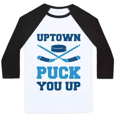 Uptown Puck You Up Baseball Tee