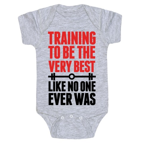 Training to be the Very Best Like No One Ever Was Baby Onesy