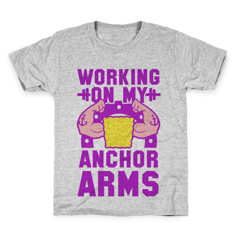 Working on My Anchor Arms Kids T-Shirt