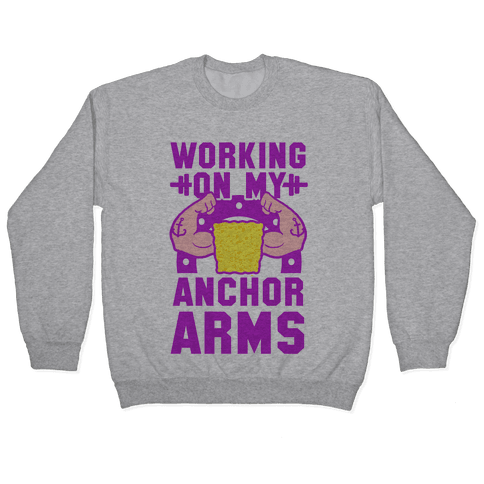 Working on My Anchor Arms Pullover