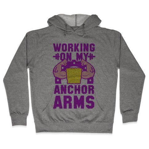 Working on My Anchor Arms Hooded Sweatshirt