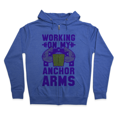 Working on My Anchor Arms Zip Hoodie